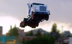 رکورد بلندترین پرش با کامیون شکسته شد